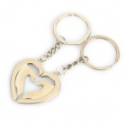 Creative Hands Heart Style Zinc Alloy Keychains for Lovers - Silver (Pair)