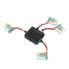 X4-001 4 x 3.7V 180mAh Li-polymer Batteries + 1-to-4 Charger Set for WLtoys + More - Black + Silver