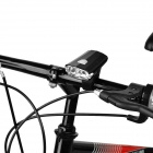 2*3W 100lm 3-Mode White LED USB Bike Bicycle Headlight - Black