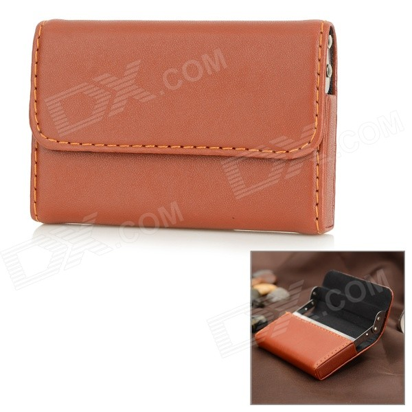 stylish-pu-aluminum-alloy-business-pull-style-name-card-holder-case-brown-silver