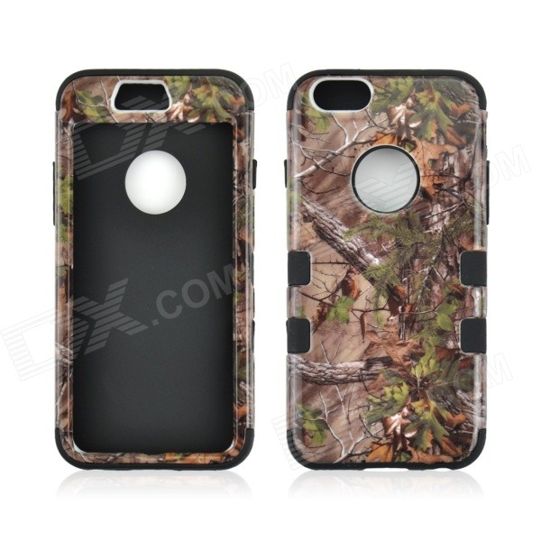 Angibabe 3-in-1 Forest Tree Pattern Heavy Duty Hybrid Silicone Cover Case for IPHONE 6 - Multiclored tt tf ths 02b hybrid style black ver convoy asia exclusive