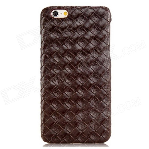 Weave Pattern Design Protective PC Back Case for IPHONE 6 - Coffee