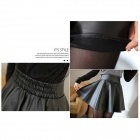 CL-81 Women's Fashion PU Leather Short Skirt - Black