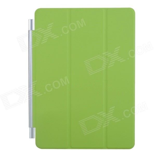 Ultra-thin Protective PU + Plastic Cover w/ Auto Sleep Function for IPAD AIR - Green