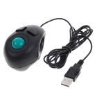 Portable Finger Hand Held 4D USB2.0 Mini Trackball Mouse (190CM-Cable)
