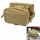 D28 600D Nylon Water-resistant Bike Bicycle Top Tube Saddle Bag - Tan