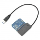 """SATA II 16GB SSD + USB 3.0 to SATA 2.5"""" Drive Connection Cable - Black + Blue"""