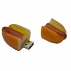 Hot Dog Style USB Flash Drive - Yellow + Red (16GB)