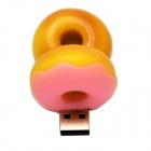 Donut Style USB 2.0 Flash Drive - Pink + Yellow (32GB)