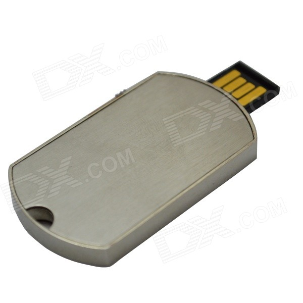 Dog Tag Style USB Flash Disk - Silver (16G)