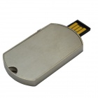 Dog Tag Style USB Flash Disk - Silver (16GB)