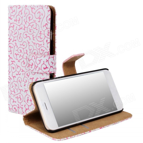 WB-I6PU Stylish Protective Flip-open PC + PU Leather Case w/ Stand / Card Slots for IPHONE 6 PLUS antelope pattern protective flip open pu leather case w stand card slots for iphone 6 plus