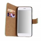 WB-I6PU Stylish Protective Flip-open PC + PU Leather Case w/ Stand for IPHONE 6 - Brown