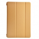 Grid Pattern Protective Leather Smart Case with Stand for IPAD MINI 1 / 2 - Golden