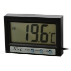 "1.9"" Mini Digital LCD Indoor/Outdoor Thermometer with Clock (-50-70'C/1*LR44)"