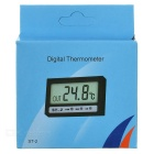 "1.9"" Mini Digital LCD Thermometer with Clock (-50-70'C/1*LR44) - Black"