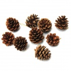 Wood Christmas Tree Decorative Pinecones - Brown (9 PCS)