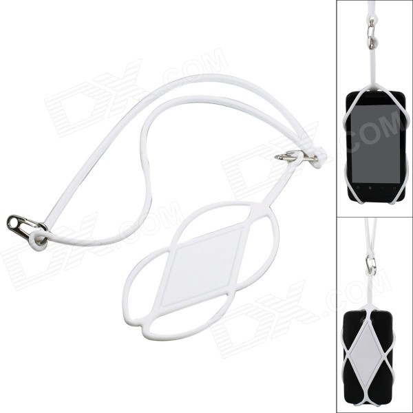 Universal Plastic Detachable Neck Strap for IPHONE / Samsung / HTC - White (50cm)