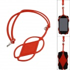 Universal plastic detachable neck strap for iphone / samsung / htc - red (50cm)