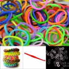 "DIY Elastic Silicone Rainbow Bands + ""S"" Hooks Set for Children - General Multicolored"