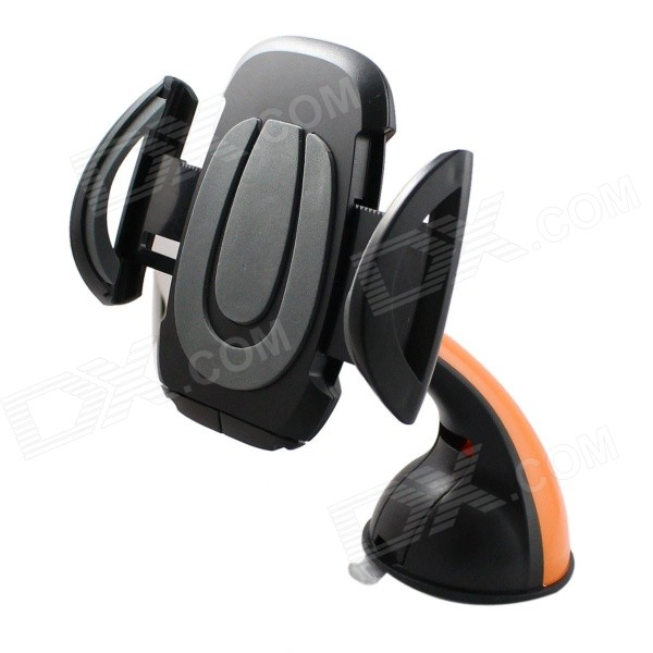 360�� Rotatable Car Vehicle Suction Cup Mount Holder Bracket for GPS / IPHONE 6 - Black + Orange