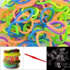 "DIY Elastic Silicone Rainbow Bands + ""S"" Hooks Set for Children - Bead Multicolored"