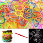 "DIY Elastic Silicone Rainbow Bands + ""S"" Hooks Set for Children - Metal Multicolored"