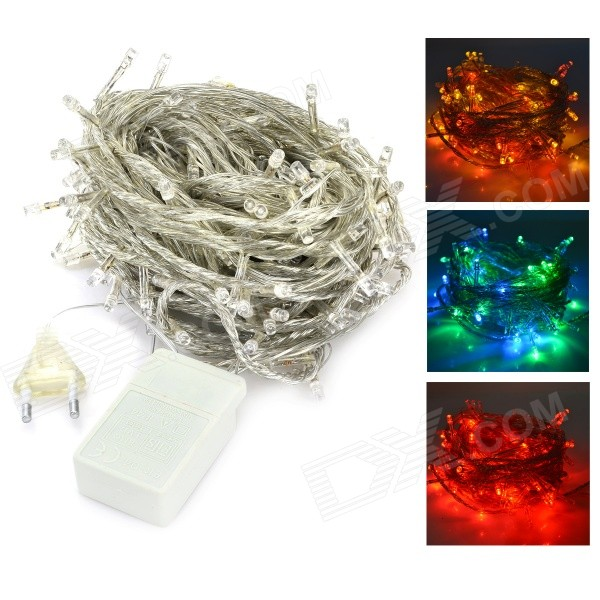 20W 480lm 6500K 200-LED Cool White Christmas Light String - White + Transparent (20M / AC220~240V)