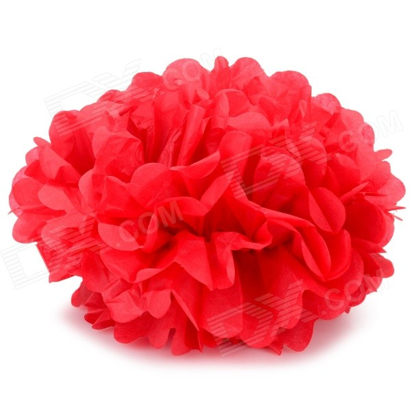 DIY Fashionable Decorative 8 Paper Peony Flower Pendant for Wedding / Party - Red