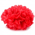 "DIY Fashionable Decorative 8"" Paper Peony Flower Pendant for Wedding / Party - Red"