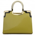 Women's Waterproof Fashion Zipper Opening Square Tote Bag - Yellow