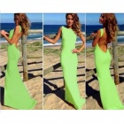 BBD-KFJ032 Women's Stylish Sexy Slim Party Evening Maxi Dress - Green (Size L)