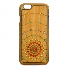 Cobweb Pattern Protective Plastic + Wood Back Case for IPHONE 6 - Golden + Multicolored