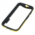 Protective Soft Plastic Bumper Frame Case for Motorola MOTO G2 - Yellow + Black