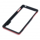 Protective Soft Plastic Bumper Frame Case for Sony Xperia Z3 - Red + Black