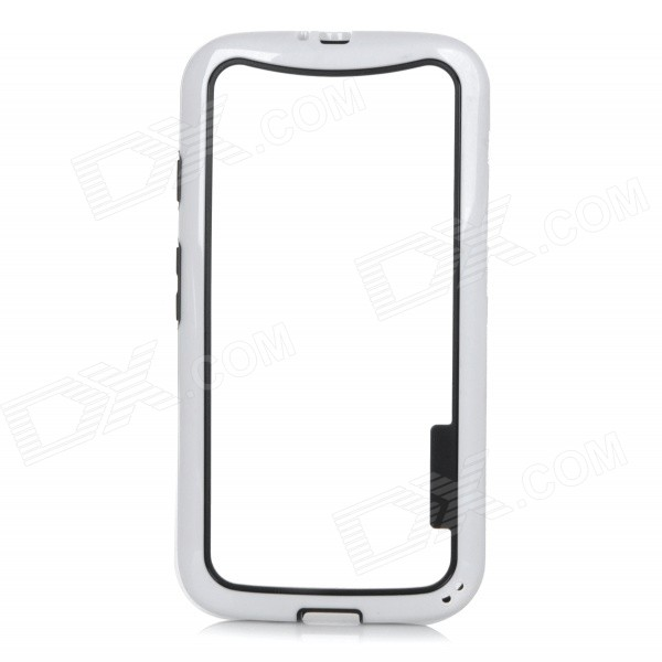 Protective Soft TPU Bumper Frame Case for Motorola MOTO G2 - White + Black защитное стекло onext 43151 для apple iphone 7 3d 1 шт
