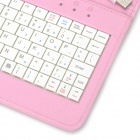 "USB Wired Keyboard + PU Full Body Stand Case w / Stylus / OTG functie voor 7 ""Tablet PC - Roze"