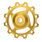 Bike Bicycle 12T Aluminum Alloy Wheels Rear Derailleur Pulley - Gold