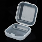 Portable Plastic Sound-proof Ear Plugs Storage Box - Transparent