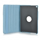 Blomster Mønster Flip-Open PU Leather Case for w / Stand IPAD AIR 2 - Hvit + Lysegrå