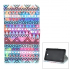 Tribe Pattern Protective PU Case w/ Stand for Samsung Galaxy Tab 4 / T230 / T231 / T235 - Multicolor