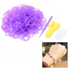 Glow-in-the-Dark DIY Educational Silicone Rubber Bands for Children - Purple (300 PCS)