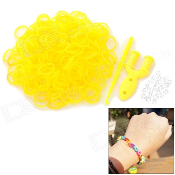 Glow-in-the-Dark DIY Educational Silicone Rubber Bands for Children - Yellow (300 PCS) children s participation in khat production educational implications