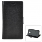 Protective PU + PC Flip-Open Case w/ Stand / Card Slots for Motorola MOTO G2 - Black