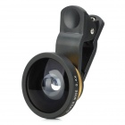 Universal Clip-On 0.4X Super Wide Angle Lens w/ Cell Phone Stand - Black + Gold