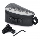 YA151 Personalized Cycling Bike Bicycle Saddle Seat Tail Bag - Black + White