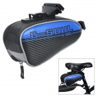 YA151 Personalized Cycling Bike Bicycle Saddle Seat Tail Bag - Blue + Black