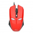 R-Hose FC-1616 Stylish USB 2.0 Wired 2000dpi Game Mouse - Red + Black
