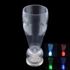 Novel Football Style Base Beer Cup Glass w/ RGB Light - Transparent (500mL)