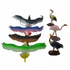 Glycine Fowl Bird Toy Package - Gray + White (7 PCS)